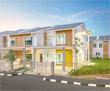 rumah teres dua tingkat darul aman utama, kuala ketil, kedah untuk dijual_3d image_front view