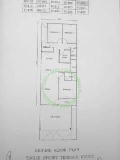 rumah teres satu tingkat untuk dijual bandar peteri jaya hill park_pelan rumah