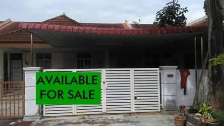 rumah teres setingkat bertam putra untuk dijual_hadapan