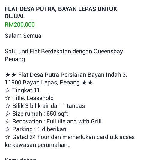 Flat Desa Putra Persiaran Bayan Indah 3_sold out2