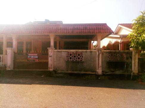 Rumah Semi D Taman Bemban Baling Kedah Untuk Dijual_hadapan