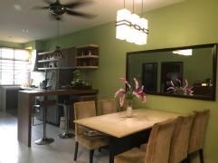 rumah teres 1 tingkat kos sederhana untuk dijual di bertam perdana kepala batas_ruang makan